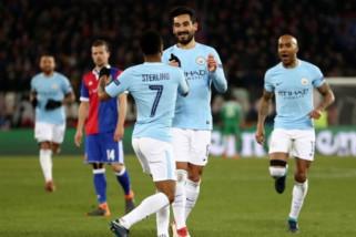 Bantai Basel 4-0, City satu kaki dekat di perempatfinal Liga Champions