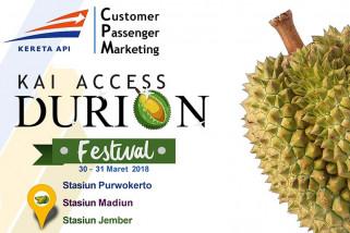 Ada festival durian di Stasiun Purwokerto