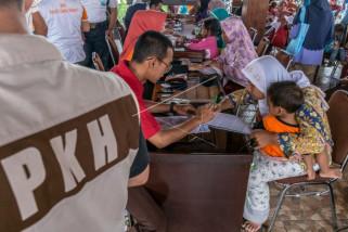 Penyaluran bantuan sosial PKH