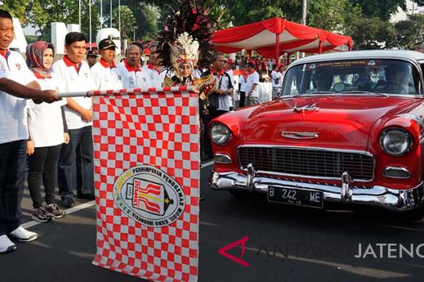 125 mobil kuno reli Hari Jadi Kota Magelang