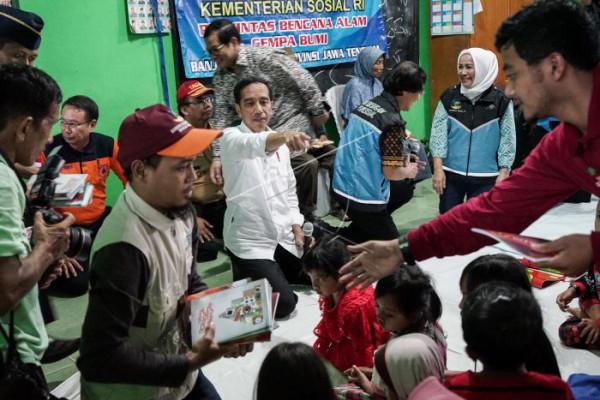 Bahagia korban gempa Banjarnegara dikunjungi Presiden