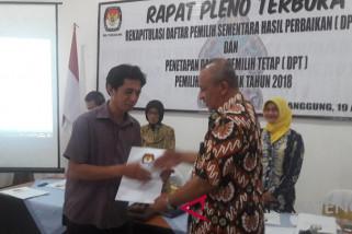 KPU Temanggung terima laporan sumbangan pasangan cabup