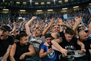 Tekuk Juve,  Napoli disambut bak tim juara liga Italia