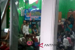 Presiden memotivasi anak-anak korban gempa Banjarnegara (VIDEO)