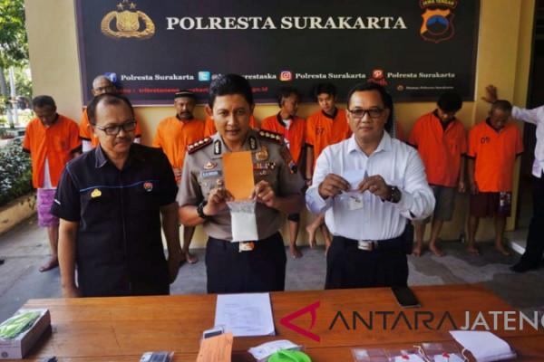 Polisi Surakarta bekuk sembilan tersangka penyalahgunaan narkoba
