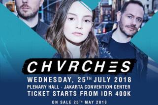 Grup musik Chvrches konser di Indonesia sekaligus promo album