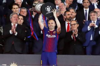 Barca persembahkan kemenangan pada laga perpisahan Iniesta