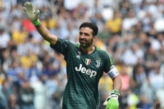 Buffon teteskan air mata di laga terakhir bersama Juventus