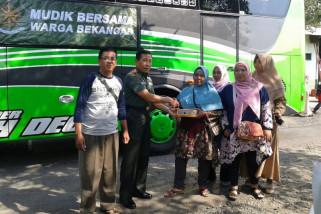 Pemudik manfaatkan layanan balik bareng TNI