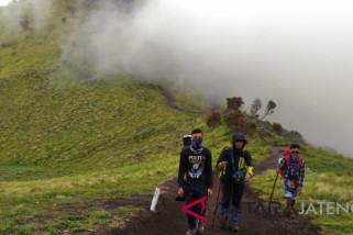 BTNGMB imbau pendaki  Merbabu waspadai kebakaran