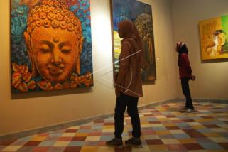 Pameran lukisan komunitas seniman Borobudur