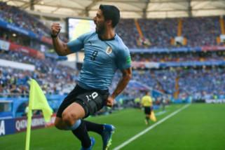Uruguay melaju ke 16 besar Piala Dunia 2018