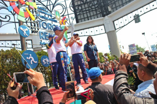 Masyarakat Solo semangat sambut api abadi Asian Games