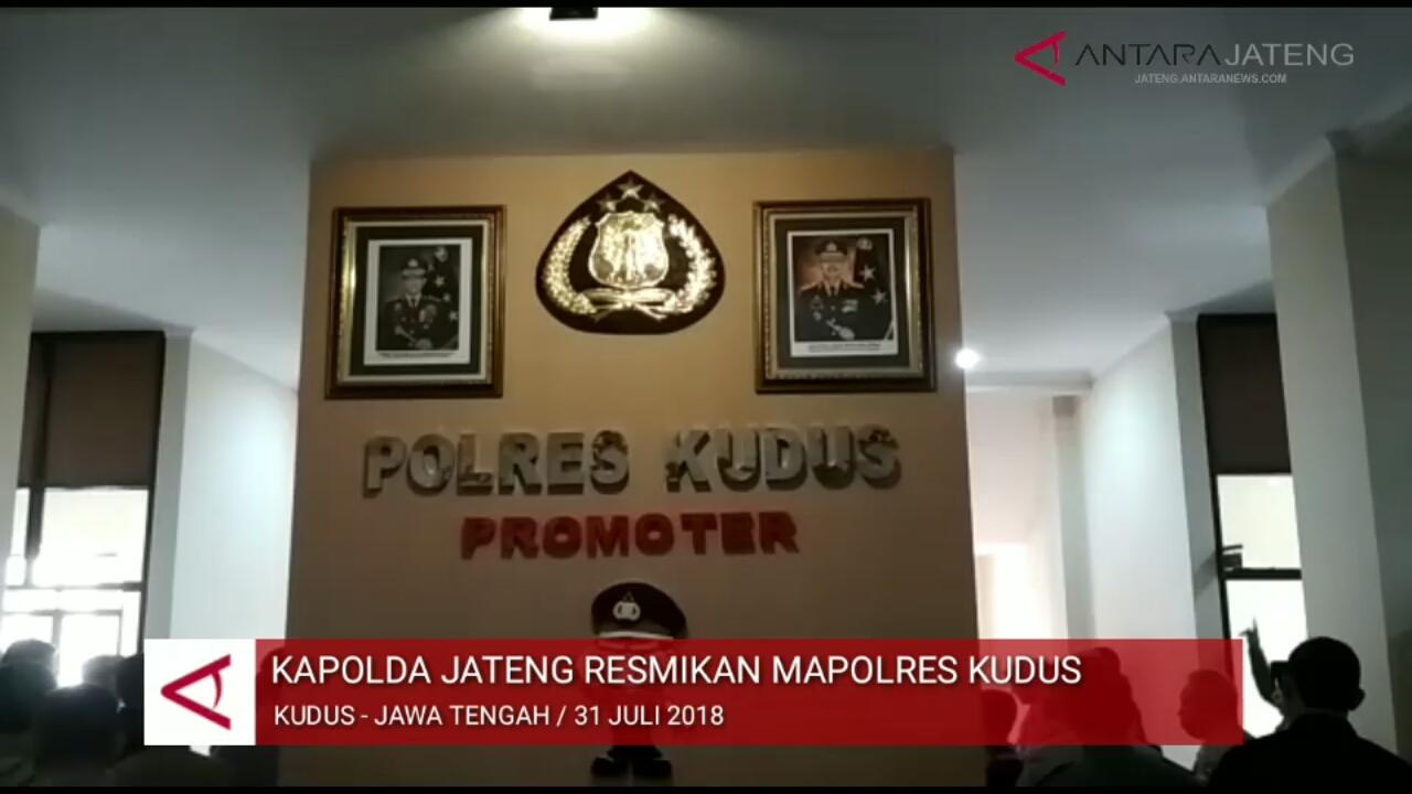 Video - Kapolda Jateng resmikan Mapolres Kudus