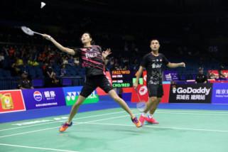 Hafiz/Gloria libas pasangan India  pada Kejuaraan Dunia 2018