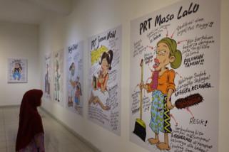 Nuansa kuning penanda berlangsungnya pameran Indonesia Senyum