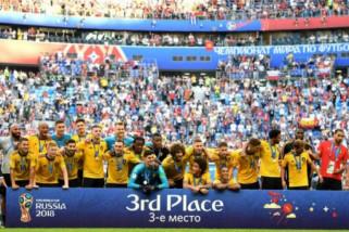 Bungkam Inggris, Belgia juara tiga Piala Dunia 2018