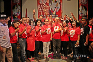 Relawan Jokowi bersatu deklarasi di Solo