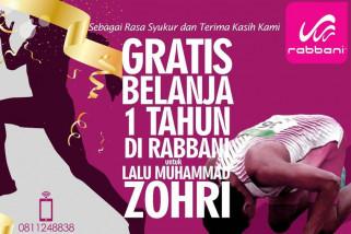 Rabbani gratiskan belanja selama setahun untuk Zohri