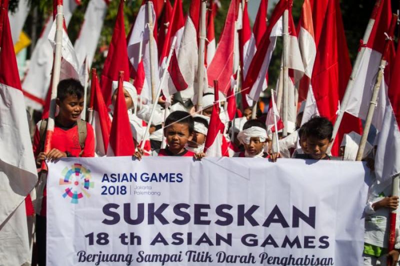 Pelajar mendukung Asian Games