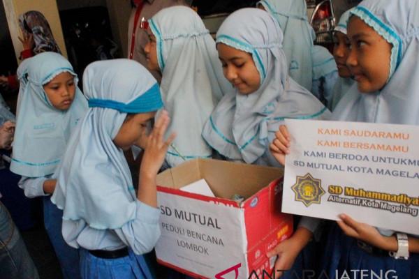 Siswa SD Magelang galang dana untuk korban gempa Lombok