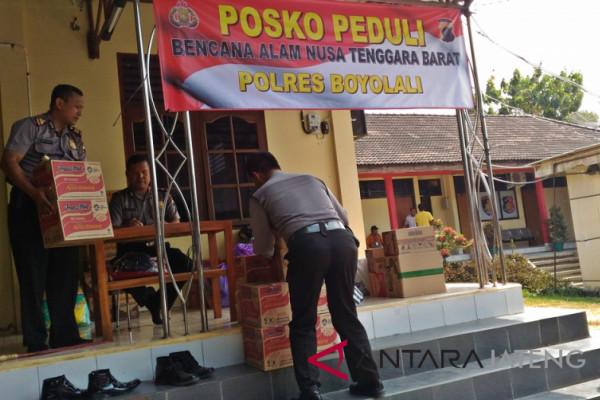 Polres Boyolali buka Posko Peduli gempa Lombok