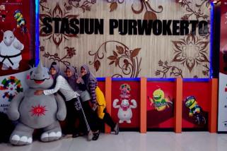 Ada pernak-pernik Asian Games di Stasiun Purwokerto