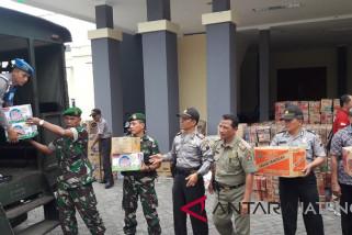 Polres - Kodim Temanggung kirim bantuan korban gempa Lombok