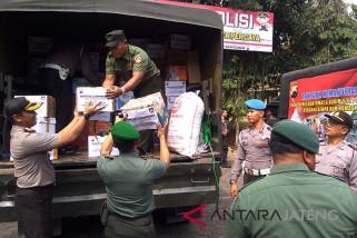 Kodim-Polres Banyumas kirim bantuan korban gempa Lombok