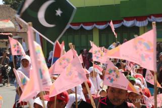 Lewat pawai, pelajar Kudus promosi Asian Games