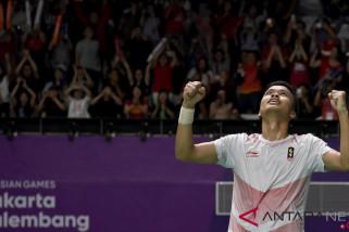 Ginting tantang Viktor Axelsen di perempat final Jepang Terbuka