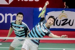 Libas pasangan China, Kevin/Marcus lolos ke putaran ketiga Kejuaraan Dunia