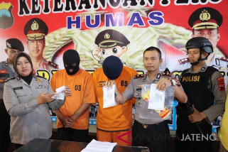 Polres Temanggung tahan dua pembawa narkoba