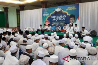 Santri Ikuti Nusantara Mengaji Doakan Cak Imin