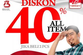 Hari Kemerdekaan, Rabbani berikan diskon 40 persen all item