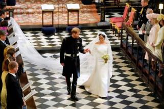 Busana pernikahan Harry dan Meghan dipamerkan untuk umum