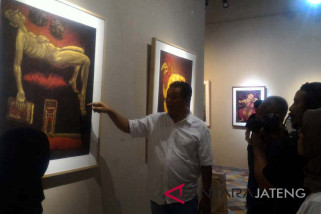 Gunawan pamerkan karya grafis di Borobudur