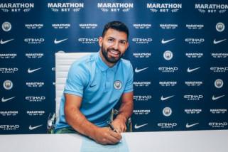 Aguero perpanjang kontrak di Manchester City hingga 2021