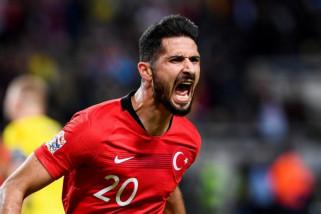 Cetak dua gol, Akbaba bawa Turki menang 3-2 atas Swedia