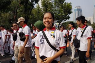 Para sukarelawan bersemangat sukseskan APG 2018