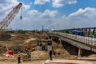 Proyek pembangunan Jembatan jalur pantura Demak