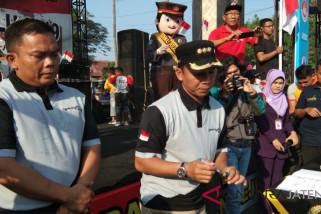 Ratusan warga Batang mendeklarasikan pemilu damai