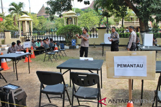 Puluhan perwira Polresta Surakarta ikuti pelatihan pengamanan pemilu