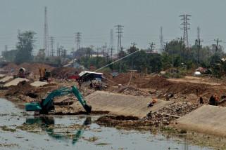 BBWS Kejar Pembangunan Parapet Sungai BKT