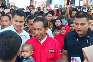 Presiden mendadak kunjungi mal di Semarang