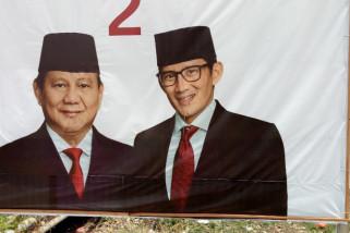 Baliho Prabowo-Sandiaga di Jepara diduga dirusak