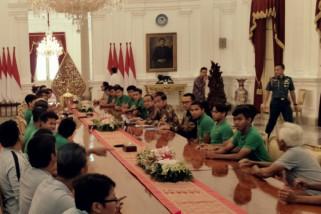 Presiden terima Timnas U-16 di Istana