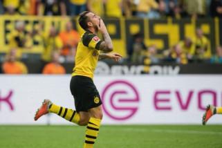 Alcacer cetak tiga gol, Dortmund mantap di puncak klasemen Liga Jerman