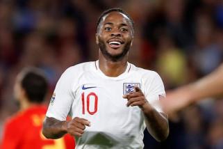 Sterling lega akhiri puasa gol di timnas Inggris setelah tiga tahun