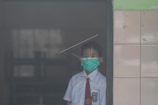 Sekolah terdampak asap kebakaran